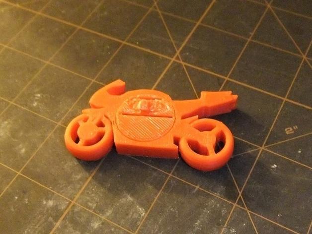 可发光的摩托车形钥匙扣 3D模型  图6
