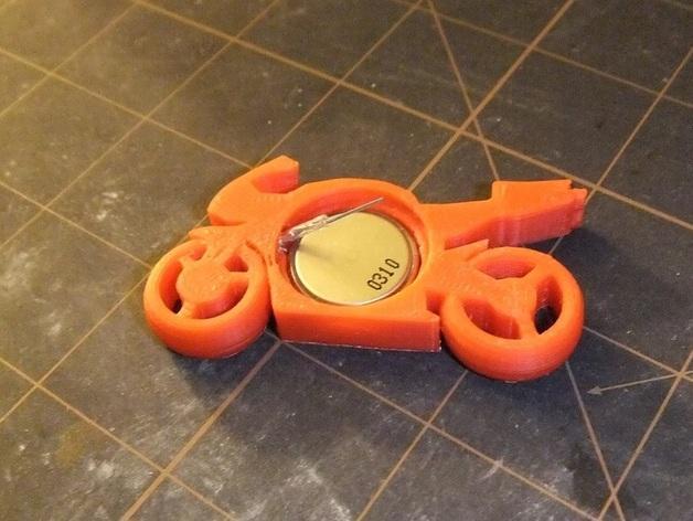 可发光的摩托车形钥匙扣 3D模型  图5