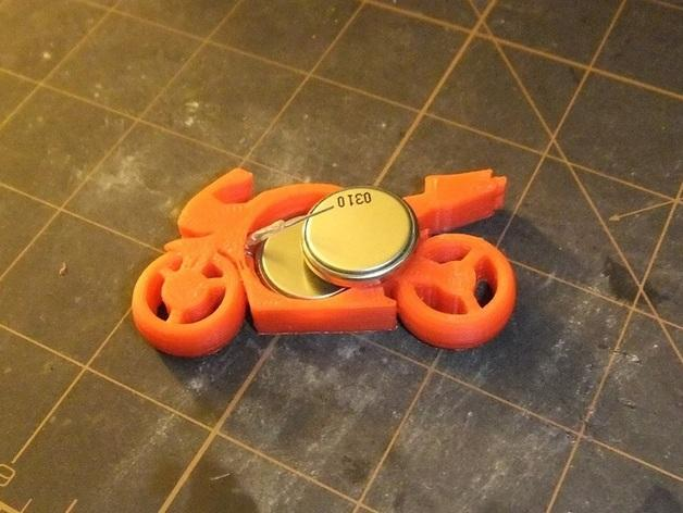 可发光的摩托车形钥匙扣 3D模型  图9