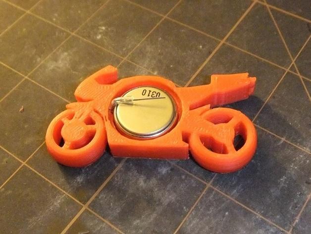 可发光的摩托车形钥匙扣 3D模型  图11