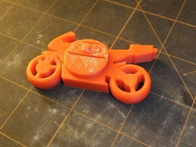 可发光的摩托车形钥匙扣 3D模型  图12