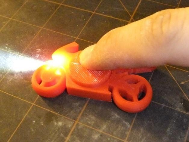 可发光的摩托车形钥匙扣 3D模型  图14