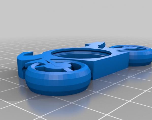 可发光的摩托车形钥匙扣 3D模型  图13