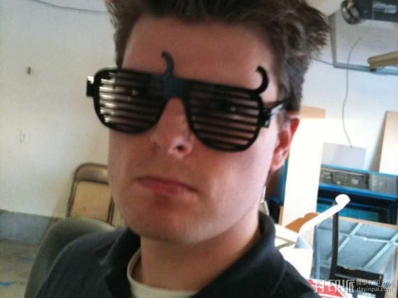 个性化百叶窗眼镜 3D模型  图3