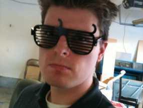 个性化百叶窗眼镜 3D模型