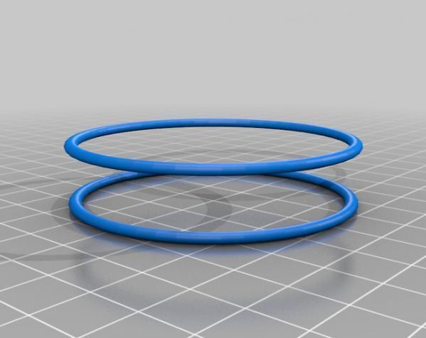 迷你双色手镯/手环 3D模型  图3
