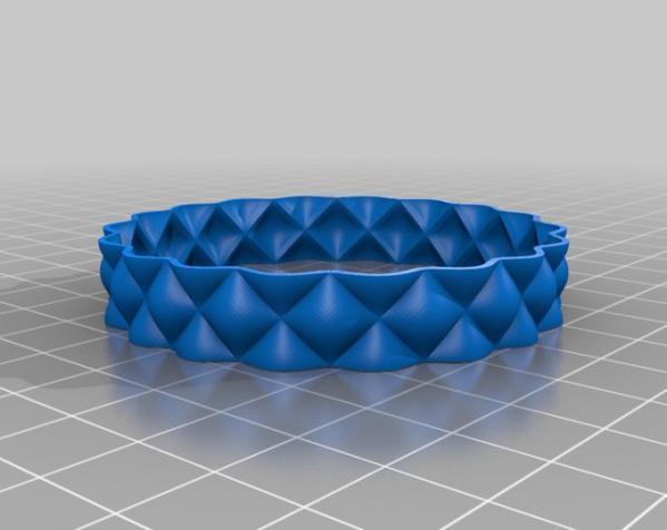 迷你双色手镯/手环 3D模型  图4