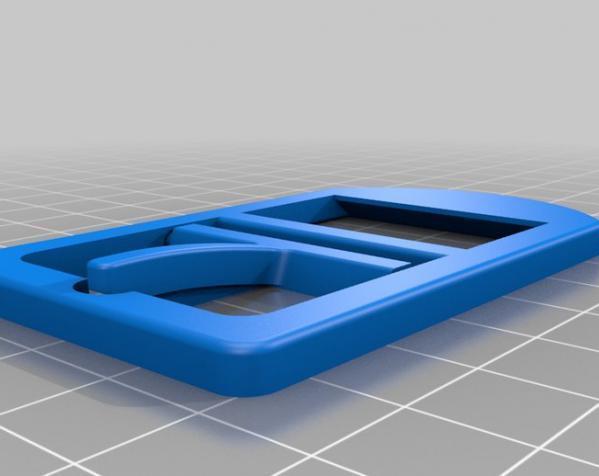 全塑料皮带扣 3D模型  图1
