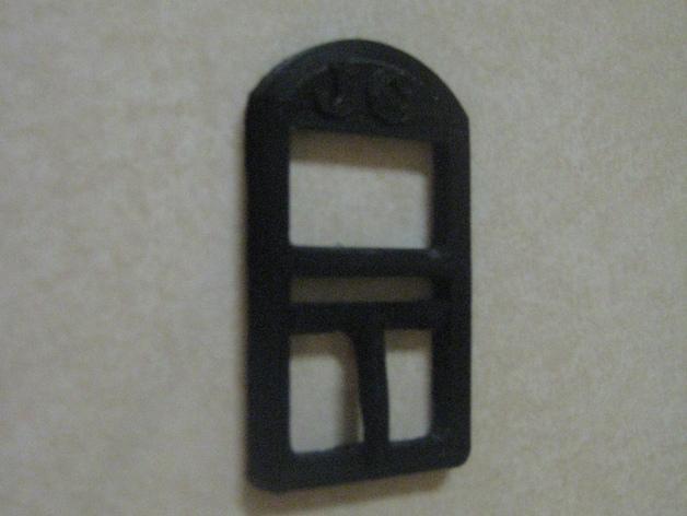全塑料皮带扣 3D模型  图3