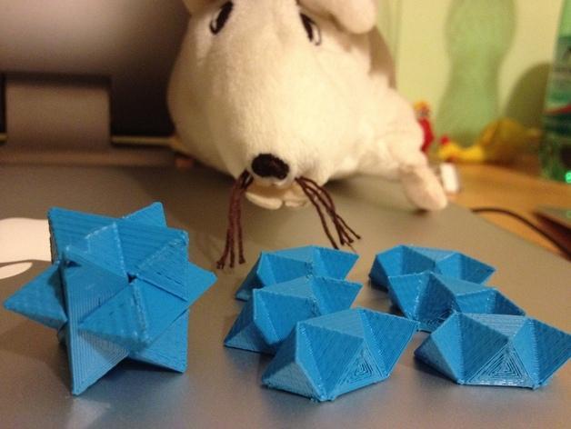 多边形钥匙扣装饰品 3D模型  图2
