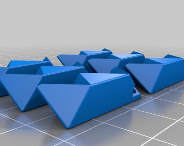 多边形钥匙扣装饰品 3D模型  图1