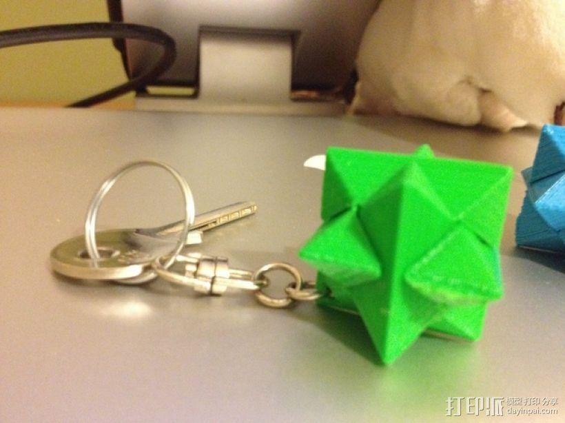 多边形钥匙扣装饰品 3D模型  图3