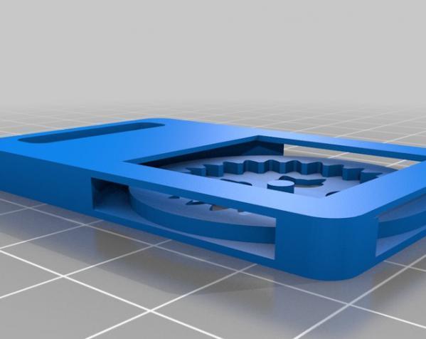 猫形齿轮钥匙扣装饰品 3D模型  图3