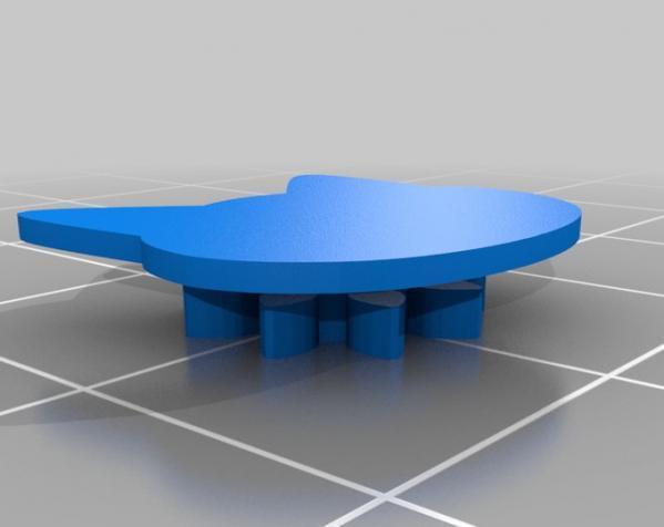 猫形齿轮钥匙扣装饰品 3D模型  图2