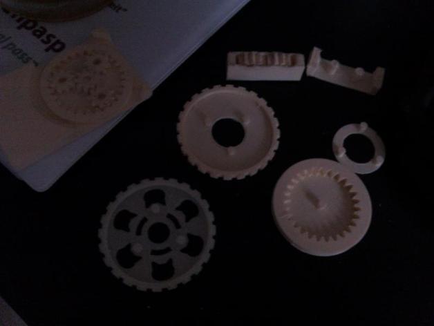 猫形齿轮钥匙扣装饰品 3D模型  图9