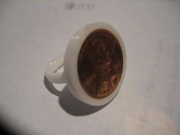迷你硬币戒指 3D模型  图1