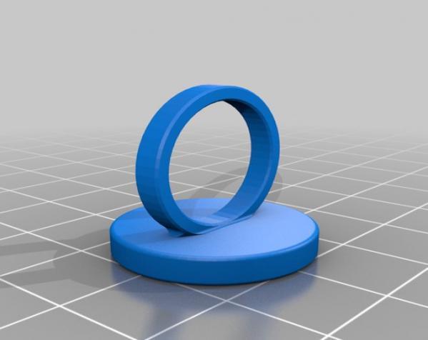 迷你硬币戒指 3D模型  图2