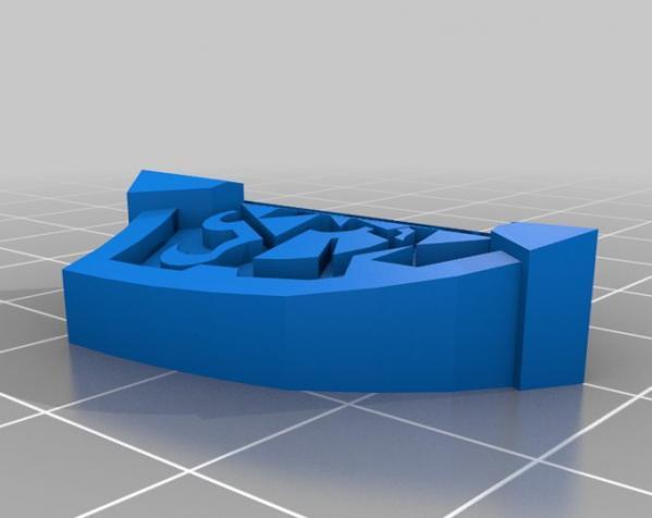 盾牌形戒指 3D模型  图2