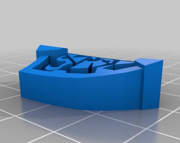 盾牌形戒指 3D模型  图4