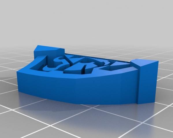 盾牌形戒指 3D模型  图5