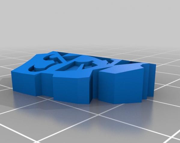 盾牌形戒指 3D模型  图6