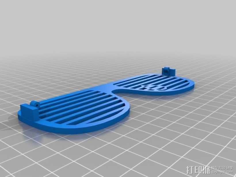 泪珠形百叶窗眼镜 3D模型  图7