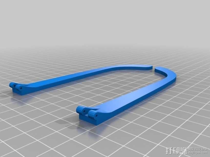 泪珠形百叶窗眼镜 3D模型  图6