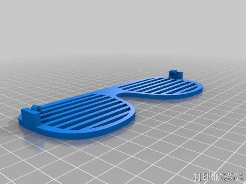 泪珠形百叶窗眼镜 3D模型  图8