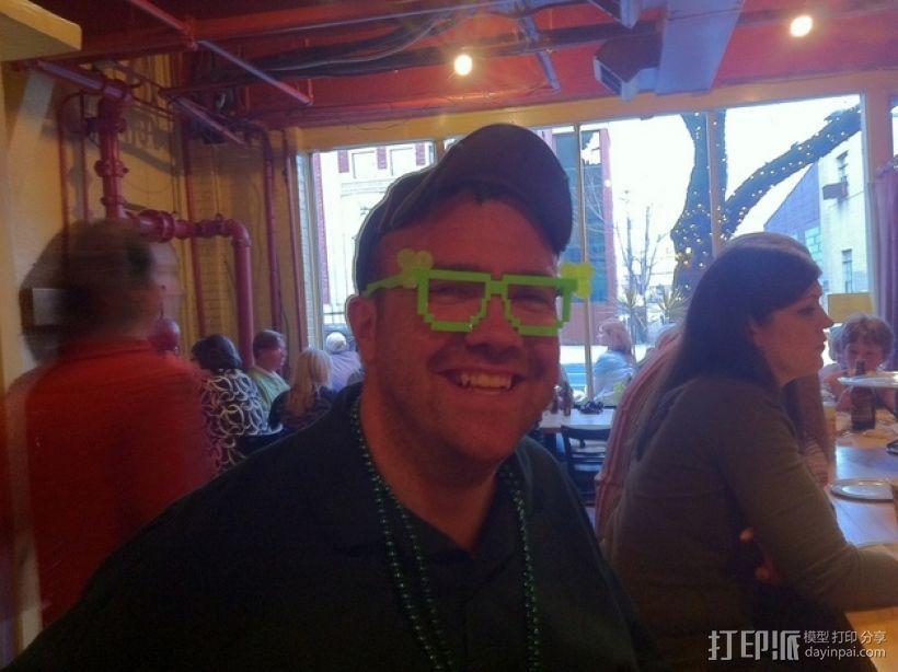 三叶草眼镜框/眼镜架 3D模型  图2