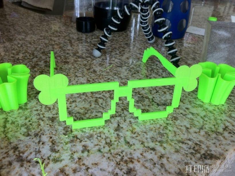 三叶草眼镜框/眼镜架 3D模型  图6