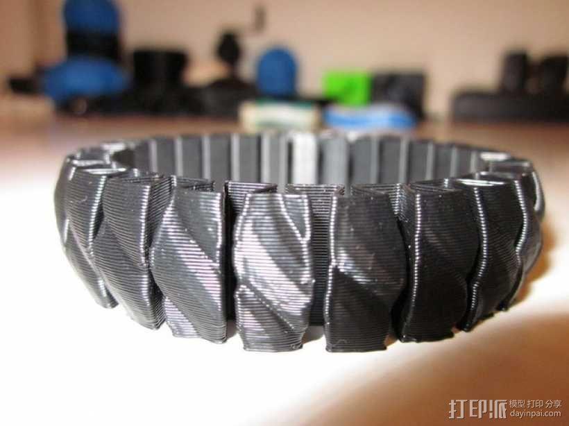 可伸缩手环 3D模型  图1