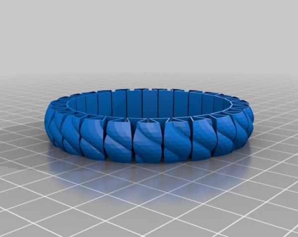 可伸缩手环 3D模型  图4