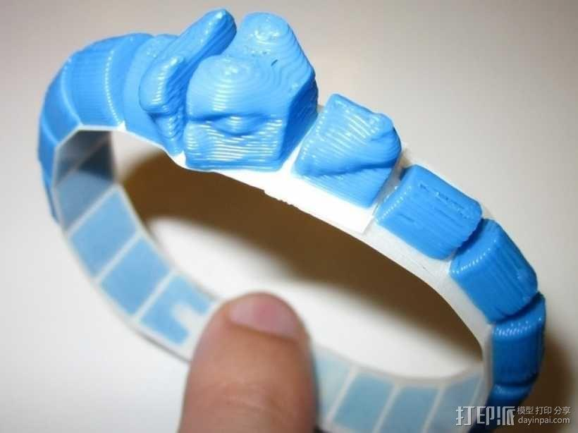 蛇形手环 3D模型  图1