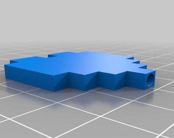 迷你心形吸管 3D模型  图3
