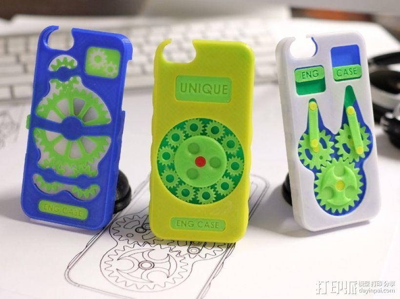 齿轮形手机壳/手机套 3D模型  图1
