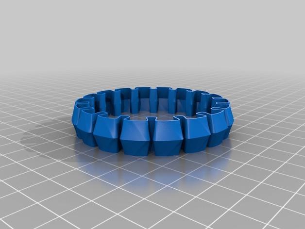 个性化灵活手环 3D模型  图2