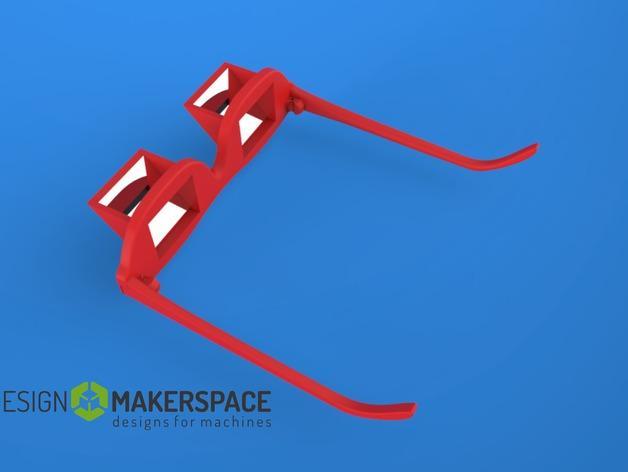 棱镜眼镜/懒人眼镜 3D模型  图2