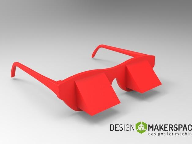 棱镜眼镜/懒人眼镜 3D模型  图3
