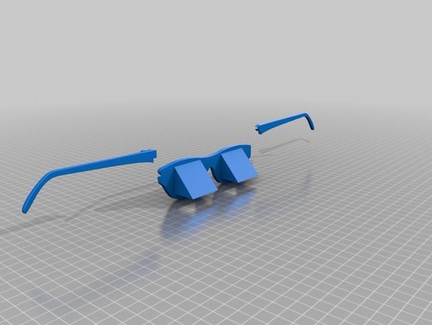 棱镜眼镜/懒人眼镜 3D模型  图4