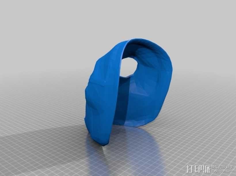 游戏《无主之地2》面具 3D模型  图1