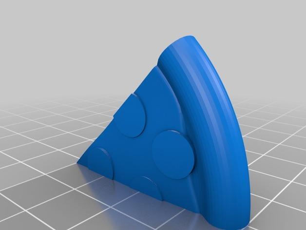 披萨形钱夹 3D模型  图4