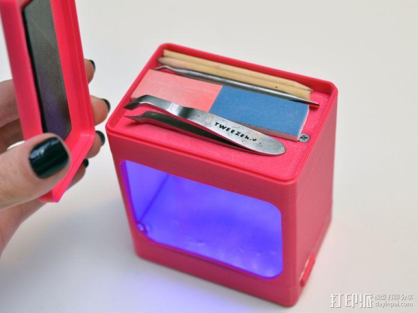 迷你UV美甲灯 3D模型  图3