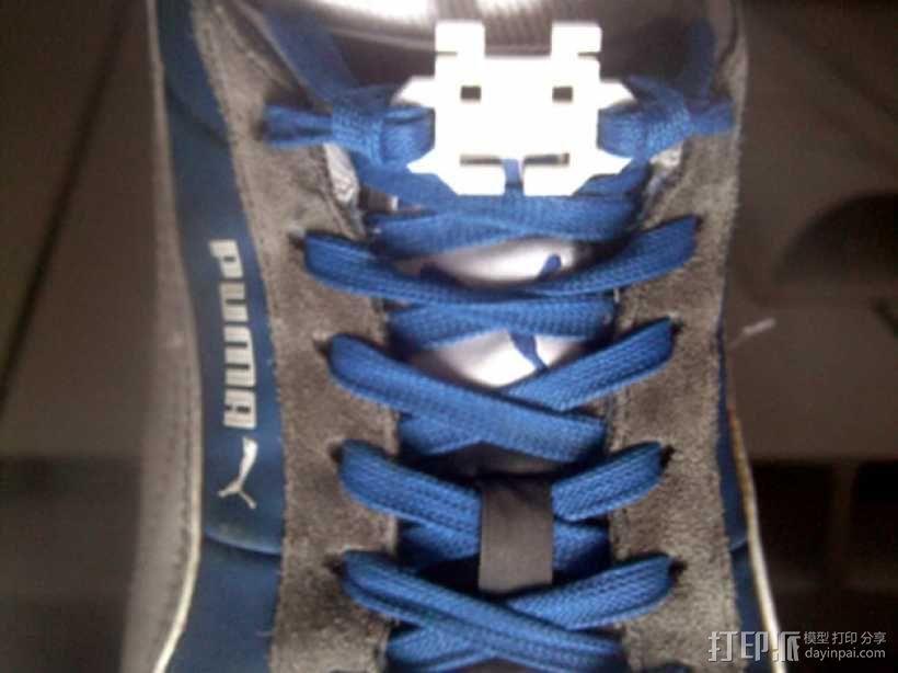 太空入侵者鞋带固定装置 3D模型  图1