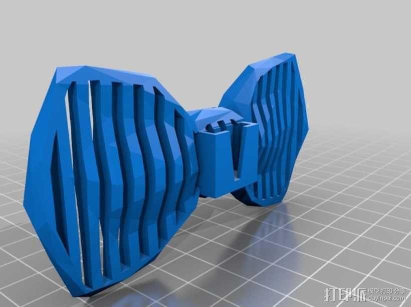 迷你镂空领结 3D模型  图5