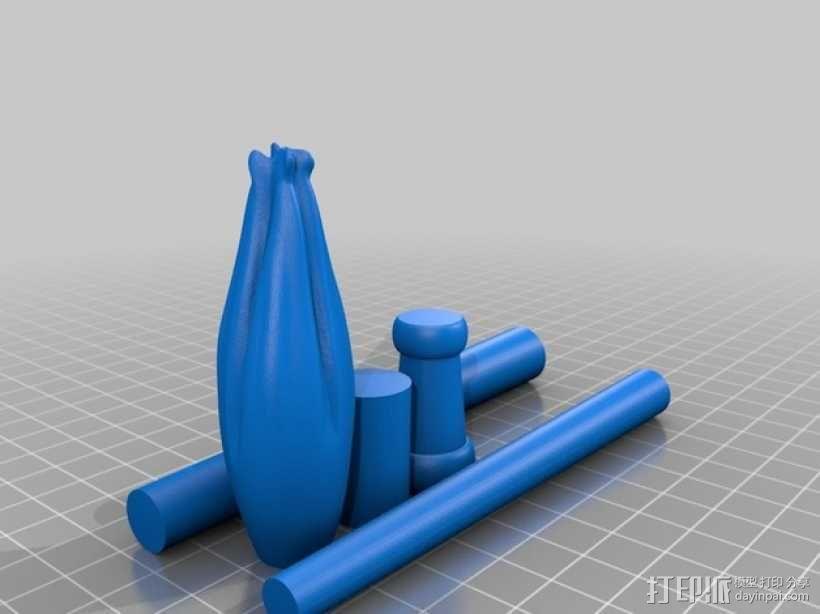 《哈利波特》:卢娜魔杖 3D模型  图2