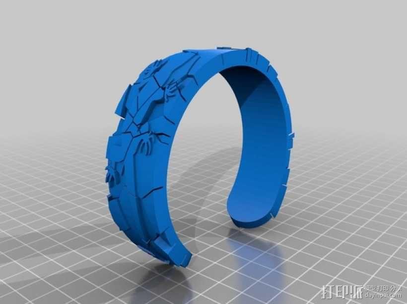 蜥蜴形手镯 3D模型  图2