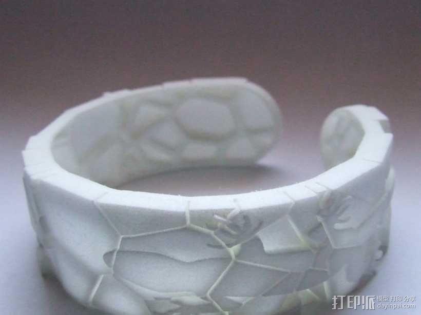蜥蜴形手镯 3D模型  图1