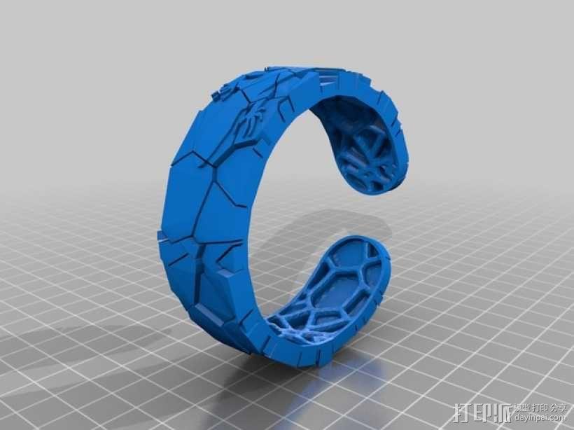 蜥蜴形手镯 3D模型  图3