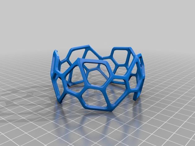 五边形镂空手镯 3D模型  图3