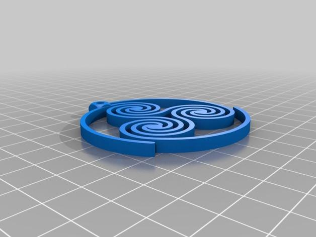 三重螺旋形耳环 3D模型  图2